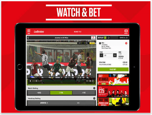 Ladbrokes watch and bet
