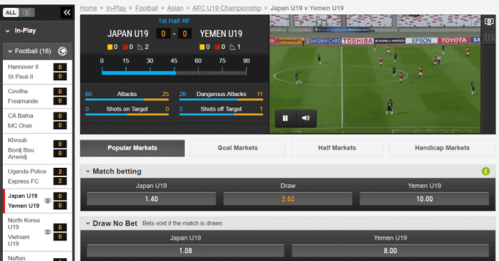 live streaming Ladbrokes