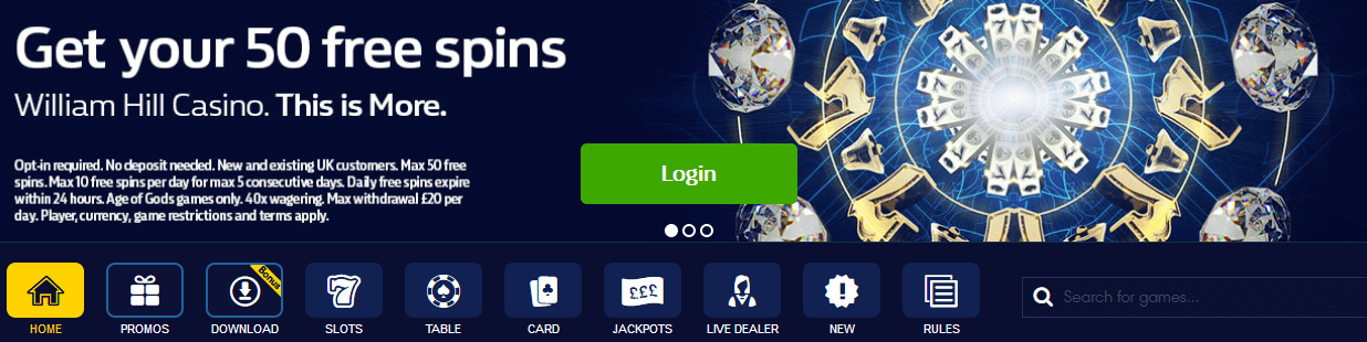 William Hill promo code -free spins