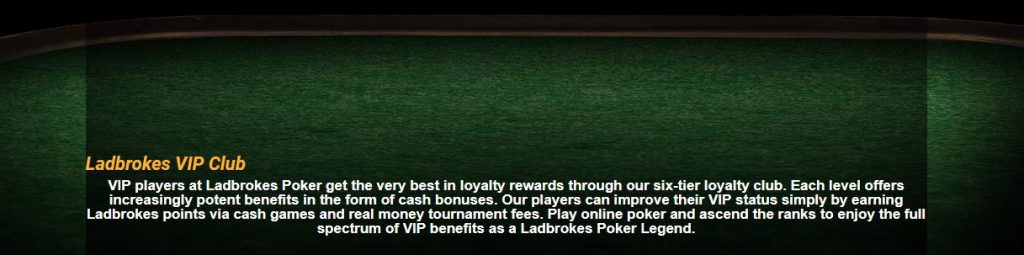 VIP PLAYERS AT LADBROKES