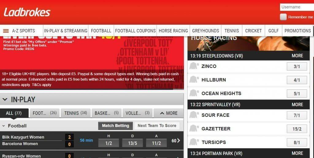 LADBROKES BETTING MARKETS
